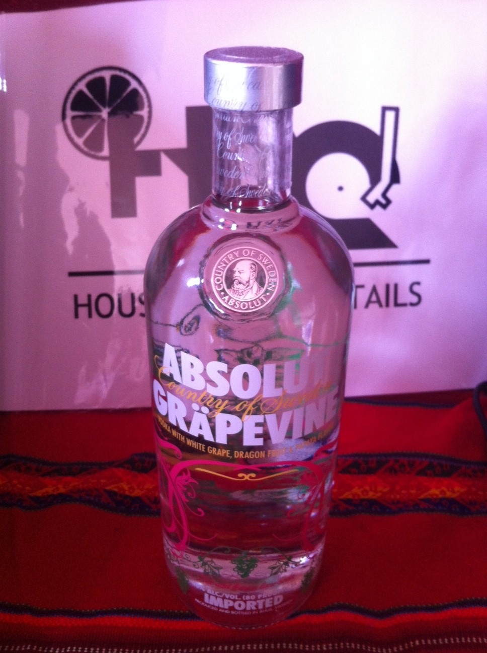 Vodka - Absolut Gapevine #1