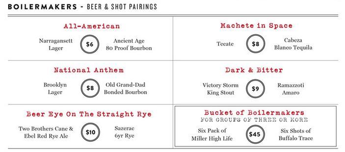 beer shot pairing